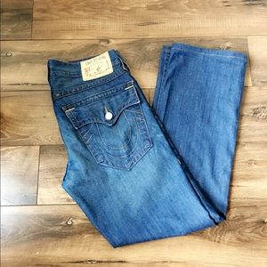 True Religion men's Ricky jeans with flap